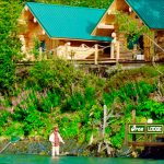 Orca lodge from river